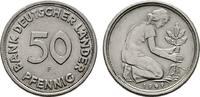 50 Pfennig 1949, F. BUNDESREPUBLIK DEUTSCHLAND  Fast Stempelglanz/Stemp... 45,00 EUR  zzgl. 4,50 EUR Versand