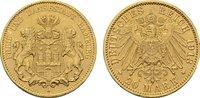 20 Mark 1913, J. Hamburg Freie und Hansestadt. Vorzüglich +.  375,00 EUR  zzgl. 4,50 EUR Versand