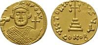 AV-Solidus, Constantinopel. BYZANZ Leontius, 695-698. Fast Stempelglanz.  1890,00 EUR kostenloser Versand