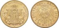 20 Mark 1913, J. Hamburg Freie und Hansestadt. Fast Stempelglanz/Stempe... 425,00 EUR  zzgl. 4,50 EUR Versand