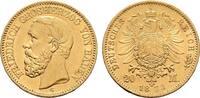 20 Mark 1873, G. Baden Friedrich I., 1852-1907. Vorzüglich.  650,00 EUR kostenloser Versand