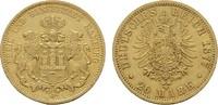 20 Mark 1877. Hamburg Freie und Hansestadt. Sehr schön  360,00 EUR  zzgl. 4,50 EUR Versand