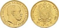 20 Mark 1872, A. Preussen Wilhelm I., 1861-1888. Vorzüglich.  340,00 EUR  zzgl. 4,50 EUR Versand
