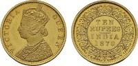 10 Rupees 1870, Kalkutta,  Early Re INDIEN Victoria, 1837-1891. Poliert... 9850,00 EUR kostenloser Versand