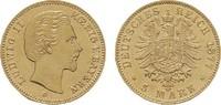 5 Mark 1877. Bayern Ludwig II., 1864-1886. Vorzüglich  675,00 EUR kostenloser Versand