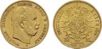10 Mark 1873, C. Preussen Wilhelm I., 1861-1888. Fast Stempelglanz.  340,00 EUR  zzgl. 4,50 EUR Versand
