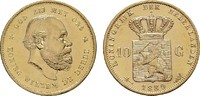 10 Gulden - Jahr nach unserer Wahl.  NIEDERLANDE Wilhelm III., 1849-189... 244,14 EUR  zzgl. 4,50 EUR Versand