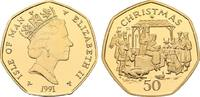 Weihnachts - 50 Pence (Goldabschlag) 1991....