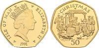 Weihnachts - 50 Pence (Goldabschlag) 1991. GROSSBRITANNIEN Elizabeth II... 2650,00 EUR kostenloser Versand