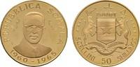 50 Shillings 1965. SOMALIA Republik. Polierte Platte  275,00 EUR  zzgl. 4,50 EUR Versand