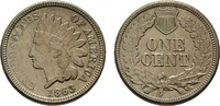 Ku.-Cent 1863. USA  Vorzüglich +.  50,00 EUR  zzgl. 4,50 EUR Versand
