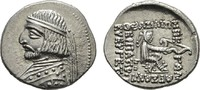 AR-Drachme, Rhagai. PARTHIA Arsakes XVI., ...
