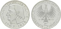 5 DM 1964, J BUNDESREPUBLIK DEUTSCHLAND Johann Gottlieb Fichte F.Stgl  43,50 EUR41,33 EUR  zzgl. 4,50 EUR Versand