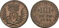 4 Pfennig 1754. MÜNSTER Clemens August von Bayern, 1719-1761. Fast Vorz... 30,00 EUR  zzgl. 4,50 EUR Versand