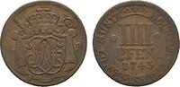 4 Pfennig 1743. MÜNSTER Clemens August von Bayern, 1719-1761. Sehr schö... 25,00 EUR  zzgl. 4,50 EUR Versand