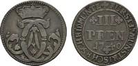 3 Pfennig 1740. MÜNSTER Clemens August von Bayern, 1719-1761. Sehr schö... 20,00 EUR  zzgl. 4,50 EUR Versand