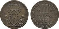 3 Pfennig 1754. MÜNSTER Clemens August von Bayern, 1719-1761. Sehr schö... 30,00 EUR  zzgl. 4,50 EUR Versand