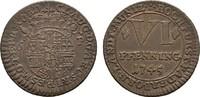Ku.-6 Pfennig 1745. PADERBORN Clemens August von Bayern, 1719-1761. Vor... 40,00 EUR  zzgl. 4,50 EUR Versand