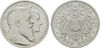 5 Mark 1906. Baden Friedrich I., 1852-1907. Stempelglanz  195,00 EUR  zzgl. 4,50 EUR Versand