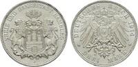 3 Mark 1914. Hamburg Freie und Hansestadt. Stempelglanz  70,00 EUR  zzgl. 4,50 EUR Versand