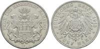 5 Mark 1913. Hamburg Freie und Hansestadt. Vorzüglich - Stempelglanz  120,00 EUR  zzgl. 4,50 EUR Versand