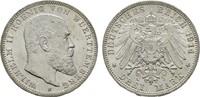 3 Mark 1914. Württemberg Wilhelm II., 1891-1918. Stempelglanz  80,00 EUR  zzgl. 4,50 EUR Versand