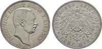 5 Mark 1914, E. Sachsen Friedrich August III., 1904-1918. Stempelglanz  190,00 EUR  zzgl. 4,50 EUR Versand
