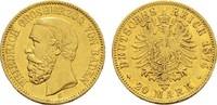 20 Mark 1874 G. Baden Friedrich I., 1852-1907. Sehr schön-vorzüglich  850,00 EUR kostenloser Versand