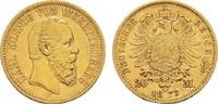 20 Mark 1873 F Württemberg Karl, 1864-1891. Sehr schön  325,00 EUR  zzgl. 4,50 EUR Versand