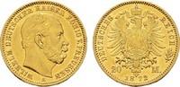 20 Mark 1872 A Preussen Wilhelm I., 1861-1888. Sehr schön-vorzüglich  295,00 EUR  zzgl. 4,50 EUR Versand