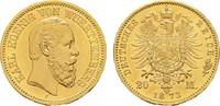 20 Mark 1873 F Württemberg Karl, 1864-1891. Vorzüglich  425,00 EUR  zzgl. 4,50 EUR Versand