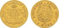 5 Mark 1877 J Hamburg Freie und Hansestadt. Schön-sehr schön  350,00 EUR  zzgl. 4,50 EUR Versand