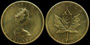 Canada, Republik. 1 Unze-Maple Leaf- 50 Dollars  Fast Stempelglanz.  1287,56 EUR 