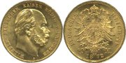 Preussen. 10 Mark, 1872 A. Stempelglanz -....