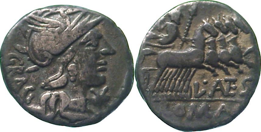 Denar. Republik L. Antestius Gragulus 136 0 126 v. Chr.. Schön - sehr schön