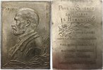 Personenmedaillen Bleiplakette Pasteur, Louis *1822, +1895.
