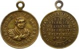Reformation Tragbare Bronzemedaille . Geburtstag von Martin Luther 1883.