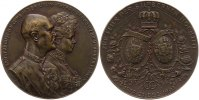 Braunschweig-Calenberg-Hannover Bronzemedaille Ernst August *1845, +1923, einziger Sohn Knig Georgs V.