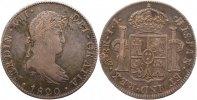8 Real 1820  JJ Mexiko Ferdinand VII. 1808-1833.. Sehr schön  95,00 EUR