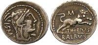 Republik Denar L. Thorius Balbus 100 - 95 v. Chr. v. Chr..