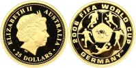 Australien 25 Dollars  Gold Republik.
