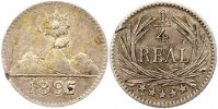 Guatemala 1/4 Real Republik 1821-2000.