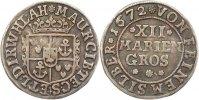 12 Mariengroschen 1672 Bentheim-Tecklenburg-Rheda Moritz 1623-1674. Seh... 135,00 EUR  +  4,00 EUR shipping