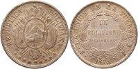 Boliviano 1873  FE Bolivien Republik. Vorzüglich  95,00 EUR  zzgl. 4,00 EUR Versand