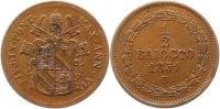 1/2 Baiocco 1851  R Italien-Kirchenstaat Vatikan Pio IX. 1846-1878. Vor... 55,00 EUR  zzgl. 4,00 EUR Versand