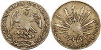 8 Reales 1838  MO Mexiko Republik 1823-1864. Sehr schön  85,00 EUR  zzgl. 4,00 EUR Versand