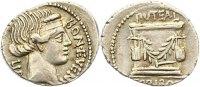 Republik Denar L. Scribonius Libo 62 v. Chr..