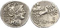 Republik Denar L. Sentius 101 v. Chr..