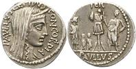 Republik Denar L. Aemilius Lepidus Paullus 62 v. Chr..