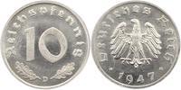 10 Pfennig Probe 1947  D Alliierte Besetzung  Prägefrisch  975,00 EUR free shipping